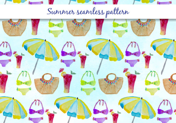 Vector Summer Swimsuit Pattern - бесплатный vector #393559