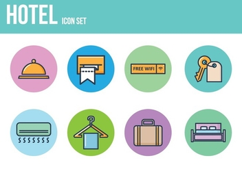 Free Hotel Icons - Free vector #393599