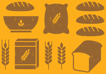 Cereal Icons - vector #393619 gratis