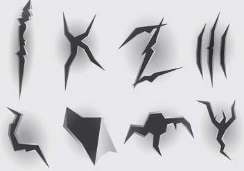 Free Metal Tear Icons Vector - vector gratuit #393699