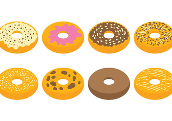 Free Bagel Icons Vector - бесплатный vector #393709