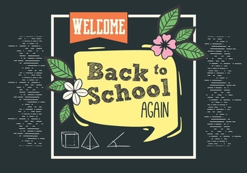 Free Back to School Vector Typography - vector gratuit #393719