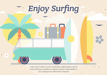 Free Surf Vector Background - vector gratuit #393729