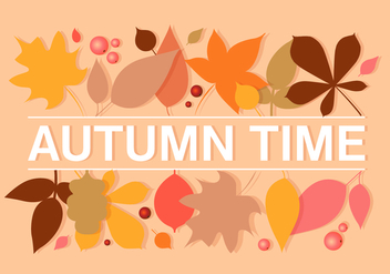 Autumn Leaves Vector Illustration - vector gratuit #393739