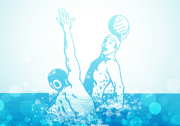 Free Water Polo Vector Illustration - Kostenloses vector #393779