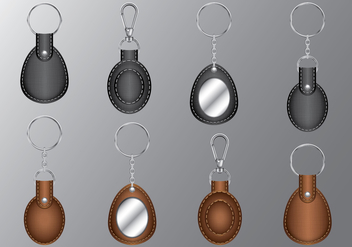 Leather Oval Keychains - бесплатный vector #393889