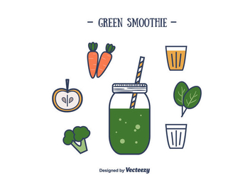 Green Smoothie Vector - Kostenloses vector #393899
