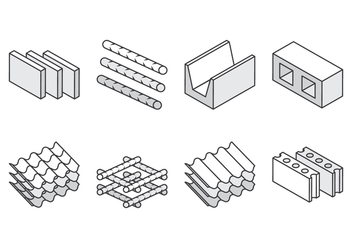 Construction Material Icons - Free vector #393909