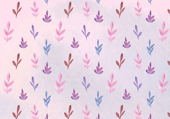 Free Vector Watercolor Leaves Pattern - Free vector #393919