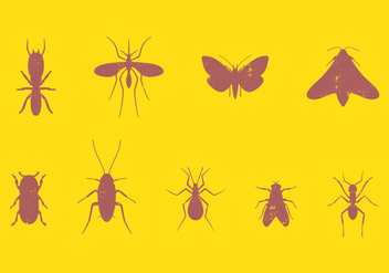 Pest Insect Set - vector #393989 gratis