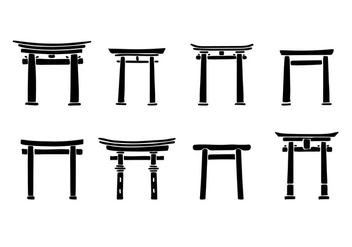 Torii Rough Vector - vector gratuit #394029