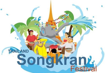 Free Songkran Illustration - Free vector #394099
