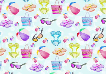 Free Vector Summer Seamless Pattern - бесплатный vector #394139