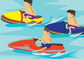 Free Jet Ski Illustration - Kostenloses vector #394169