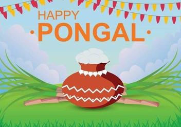 Free Pongal Illustration - Kostenloses vector #394179