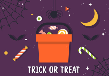 Free Trick or Treat Candy Illustration - бесплатный vector #394369