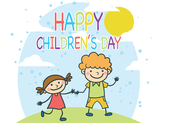 Children's Day Vector - vector gratuit #394389