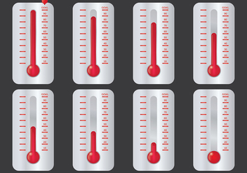 Free Goal Thermometer Icons Vector - бесплатный vector #394409