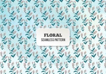 Free Vector Watercolor Floral Pattern - Free vector #394529