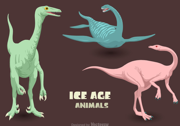 Free Vector Ice Age Animals - Free vector #394679