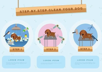 Free Dog Wash Illustration - vector gratuit #394719