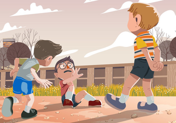 Vector Kid Bullying While Playing - Free vector #394849