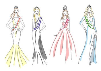 Free Pageant Girls - vector gratuit #394869