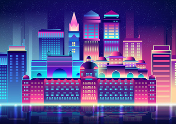 Mumbai At Night - vector gratuit #394889