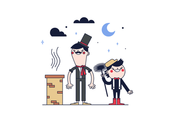 Free Chimney Sweep Vector - vector gratuit #394909