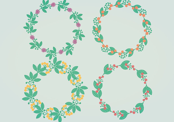Vector Floral Wreaths - Free vector #394989
