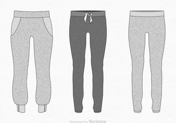 Free Vector Sweatpants Illustration - бесплатный vector #395129