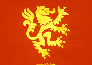 Free Grunge Lion Rampant Vector Background - vector #395169 gratis