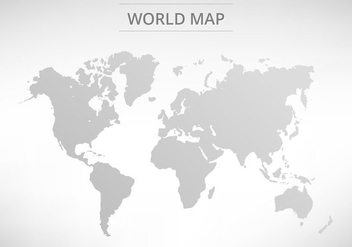 Free Vector Grey World Map - Free vector #395279