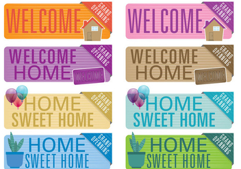 Welcome Home Banners - vector #395319 gratis