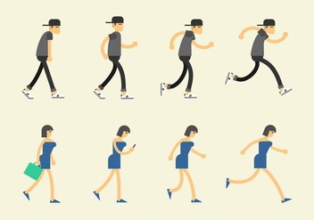 Walk Cycle Icon - vector #395349 gratis