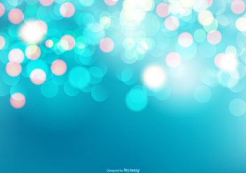 Beautiful Blue Bokeh Background - Kostenloses vector #395659