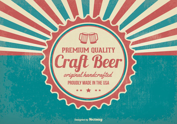 Promotional Retro Crafted Beer Background - бесплатный vector #395689