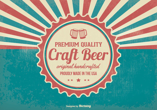 Promotional Retro Crafted Beer Background - vector #395689 gratis