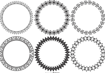 Decorative Round Vector Frames Collection - Free vector #395729