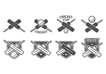Free Cricket Vector Badge - vector gratuit #395869