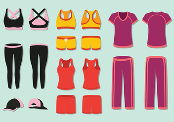 Free Woman's Tracksuit Vector - Free vector #395939