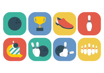 Free Bowling Icon Set - vector gratuit #396009