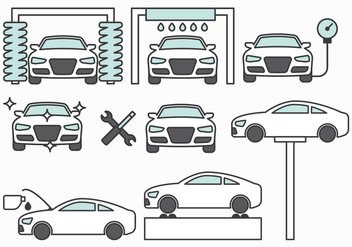 Car Maintenance Icons - Free vector #396029