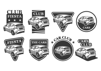 Free Car Vector Badges - бесплатный vector #396039
