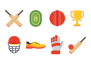 Free Cricket Icon Set - Kostenloses vector #396059
