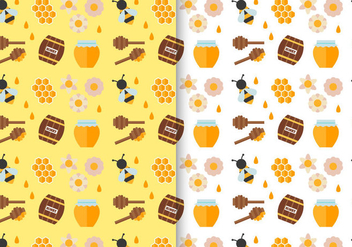 Free Honey Pattern Vector pack - бесплатный vector #396079