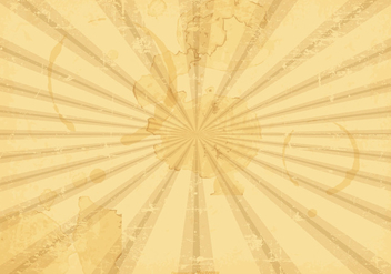 Sunburst Grunge Vector Background - Kostenloses vector #396109