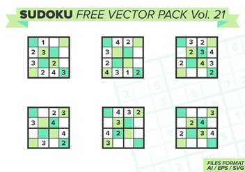 Sudoku Free Vector Pack Vol. 21 - бесплатный vector #396139