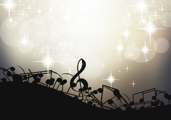 Note Of Music Background Template - vector gratuit #396349