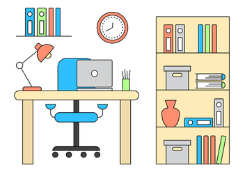 Vector Office Illustration - Free vector #396369
